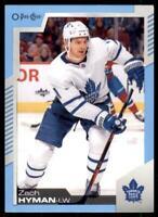 2020-21 UD O-Pee-Chee Blue Border #360 Zach Hyman - Toronto Maple Leafs