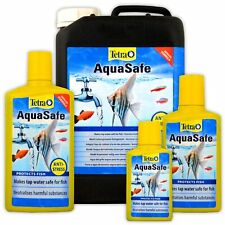TETRA AQUASAFE 100ML 250ML 500ML 5L 5 LITRE FISH TANK TAP SAFE WATER CONDITIONER
