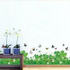 Grass Butterfly Wall Stickers Removable DIY Vinyl Art Bedroom Decals Home Decor