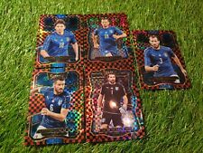 5x Panini Select Soccer 17/18 Red Black Checkerboard Italy Team Lot Set