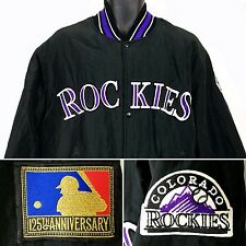 Colorado Rockies Starter Jacket Vtg 90s Bomber MLB 125th Anniversary USA Large