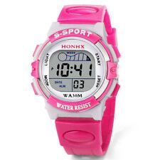New Waterproof Children Boys Digital LED Sports Watch Alarm Date Watch For Gift