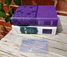 Nob! Nkjv Compact Large Print Reference Bible Purple Premium Lt Rl Ed. Magnifier
