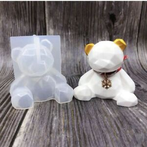 Teddy Bear Silicone Resin Mold Epoxy Resin Mold manual DIY craft tool supplies