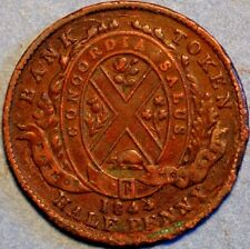 1/2 Penny 1844 Token Bank of Montreal Canada