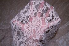 Nude Floral Stretch Lace #73 Nylon Lycra Spandex Apparel Fabric BTY