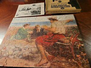 """Vtg 1940's Jig of Week Puzzle #22-""""Boyhood Of Sir Walter Raleigh"""" 300+ Pieces"""