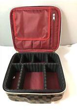 WODKEIS Travel Bag Makeup Organizer train Case Adjustable Dividers NEW! Durable!