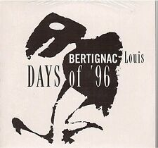 LOUIS BERTIGNAC days of '96 CD PROMO neuf telephone