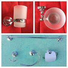 Chrome 6 Pieces Bathroom Hardware Bath Accessories Set 9100