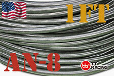 -8an AN8 Stainless Steel Braided hoses Fuel Oil Line Hose track car racing
