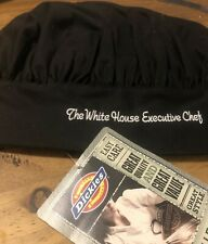 Dickies Adult Size Toque Chef Hat White House Executive Original Embroidered New