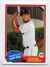 1981 Topps #281 XANDER BOGAERTS Boston Red Sox Baseball Card - 2018 Archives