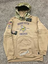 AUTHENTIC Nike 2019 Minnesota Vikings Salute to Service Hoodie All Sizes STS