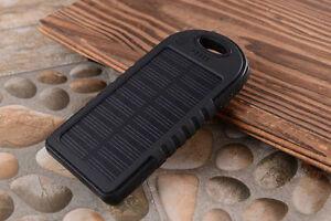 5000 mah Dual-USB Portable Solar Power Bank External Battery Cell Phone Charger
