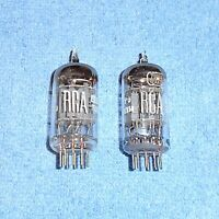 2 RCA 7025A 12AX7A ECC83 Vacuum Tubes - Audio Twin Triodes - Made in Canada