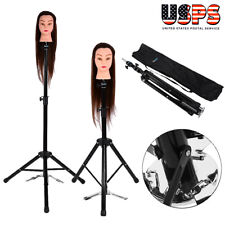 Mannequin Head Tripod Hairdressing Training Head Holder Hair Wig Stand Us