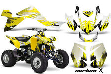 Suzuki LTZ 400 AMR Racing Graphic Kit Wrap Quad Decals ATV 2009-2012 CARBONX YLW