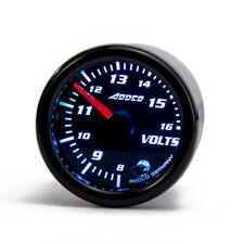 """7 Color LED Universal 2""""/52mm Car Volt Gauge Voltmeter Meter Smoke Lens Pointer"""