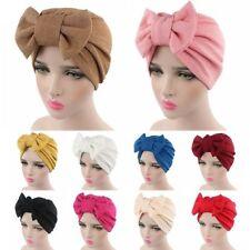 Femmes Grand Bow Bonnet Turban Cap Beanie Hat Head Chapeaux