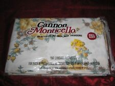 Vintage Floral Pillowcases 2-Standard Nos Flower Bouquet Yellow Cannon New