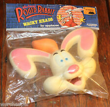 VINTAGE WHO FRAMED ROGER RABBIT 1987 WACKY HEADS NEW MINT IN PACKAGE APPLAUSE
