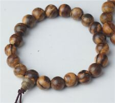 Prayer Beads Tiger Stripe Aloeswood Wrist Mala - Prayer Beads - 8mm  #41031
