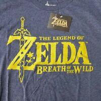 The Legend of Zelda Men's 2XL T-Shirt Breath Of The Wild Licensed Nintendo Game