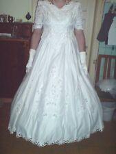 Brautkleid/Kostüm in weiß Gr 46/48/50/52 mit Zubehör