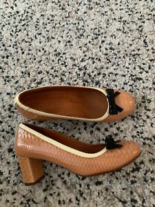 CHIE MIHARA patent croc effect leather shoes size 38 Uk 5