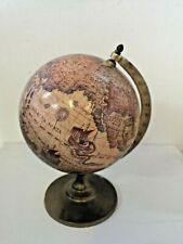 Small Decorative World Globe on Brass Base - 1A