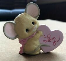 Hallmark Merry Miniatures 1987 Mouse with Pink Heart