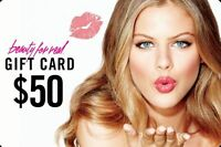 Beauty For Real Gift Card Perfect for Birthdays Graduations Holiday Party Supply