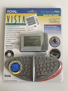 Royal Vista Card Size PDA Electronic Organizer w Detachable Keyboard ** NEW **