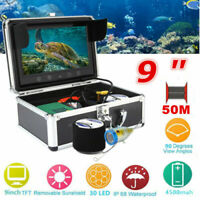 "9"" 50M 1000TVL Fish Finder Underwater Fishing Camera For Sea/River Fishing Hot"
