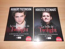 lot de 2 livres biographies ROBERT PATTINSON KRISTEN STEWART twilight