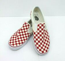 Mens Vans Classic Slip On Primary Check Red Cream-White. Size 11.5  New W Defect