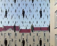 """RENE MAGRITTE Surrealism Art Painting Photopaper or Canvas Print """"Golconda"""""""