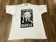 New listing Xl - Vtg 90s President Quayle Single Stitch Fruit of the Loom Cotton T-Shirt Usa
