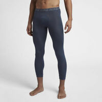 Men's Nike 3/4 Leggings Running Training Tights Blue -  AJ1685 471 CVT