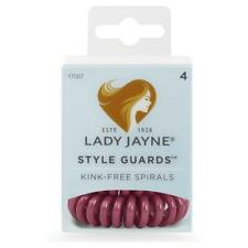 Lady Jayne Style Guards Maroon Spiral Elastics Ideal for Normal Thick Hair– 4 PK