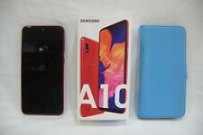 Samsung A10 In Red With Protective Case.