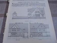 1911 Baugewerkszeitung 20   / Landhausbei Ratibor Architekt Wolter