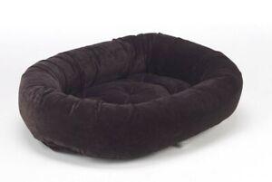 Bowsers Pet Luxury Cushioned Oval Donut Dog Bed Eurovelvet Fabrics