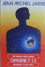 "40x60"" HUGE SUBWAY POSTER~Jean Michel Jarre 1997 Oxygene 7-13 Earth Original~NOS"
