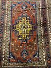 Estate Vintage Hand Woven Wool Oriental Kazak Area Rug Carpet,  6.5' x 8.5'