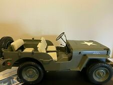 Gijoe 2003 Hasbro Military 1941 Jeep Willys Mb Size 18x10x7 -  Scale 1:8 NOT 1:6