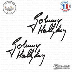 2 Stickers Signature Johnny Hallyday Decal Aufkleber Pegatinas S-006