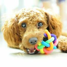 Colorful Pet Bell Ball Dog Toy Cat Toys Pet Dog Ball Bell Chew Toys Play Teeth