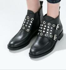 Zara Block Ankle Boots for Women